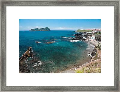 Small Bay And Islet Framed Print by Gaspar Avila