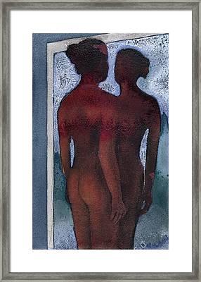 Small Blue Mirror Framed Print by Graham Dean