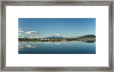 Small Boat Harbor By Old Airport Framed Print by Panoramic Images