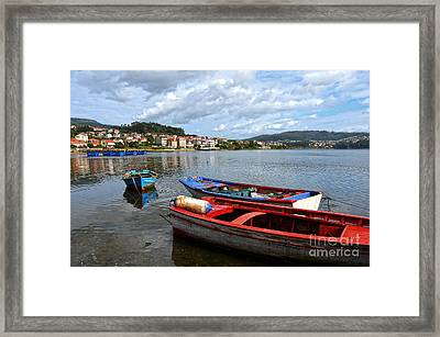 Small Boats In Galicia Framed Print