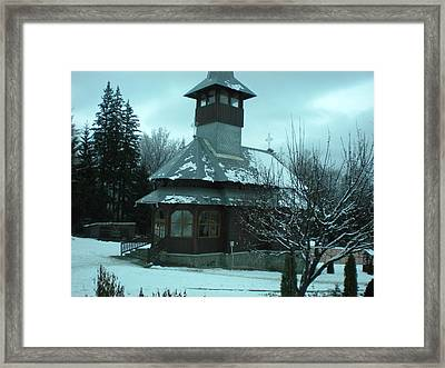 Small Church Romania Framed Print by Andreea Alecu