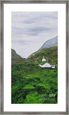 Framed Print featuring the painting Small Church by Susanne Baumann