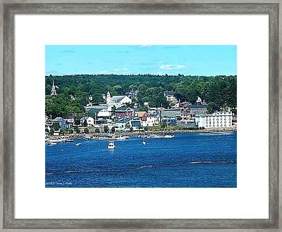 Small Coastal Town America Framed Print by Tara Potts