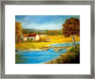 Small Cottage Framed Print