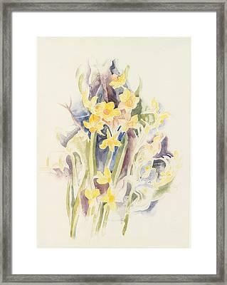 Small Daffodils Framed Print by Charles Demuth