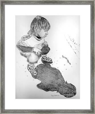 Framed Print featuring the drawing Small Discovery by Joyce Gebauer