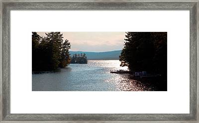 Small Dock On Lake George Framed Print by David Patterson