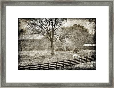Small Farm In West Virginia Framed Print by Dan Friend