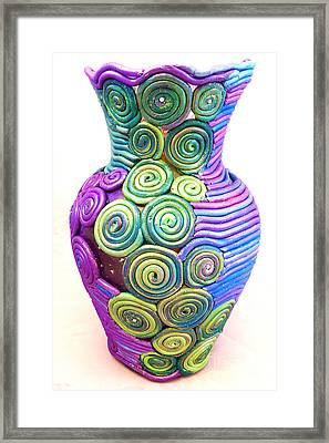 Small Filigree Vase Framed Print by Alene Sirott-Cope