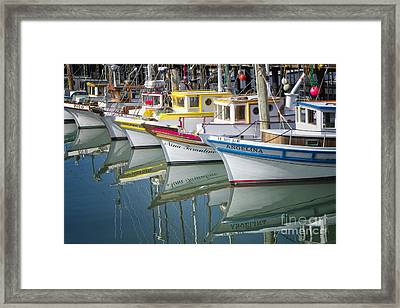 Small Fishing Boats Of San Francisco  Framed Print by George Oze