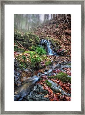 Small Fog Waterfall Framed Print by John Swartz