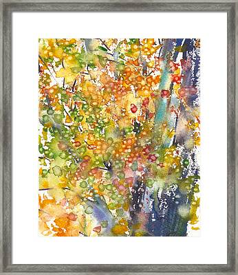 small format No.23 New England Fall-scape 40x49 Framed Print