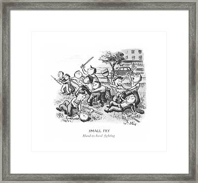 Small Fry  Hand-to-hand ?ghting Framed Print