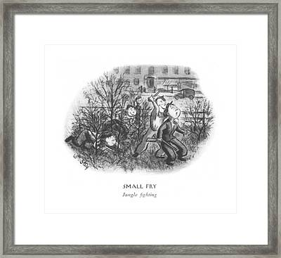 Small Fry  Jungle ?ghting Framed Print