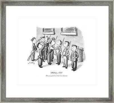 Small Fry Distinguished Service Cross Framed Print by William Steig
