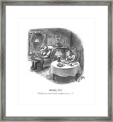 Small Fry  Gallia Est Omnis Divisa In Partes Tres Framed Print