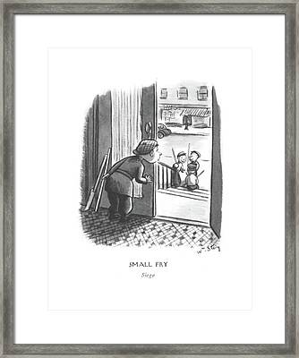 Small Fry Siege Framed Print