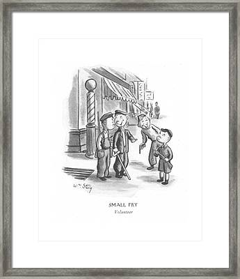 Small Fry Volunteer Framed Print