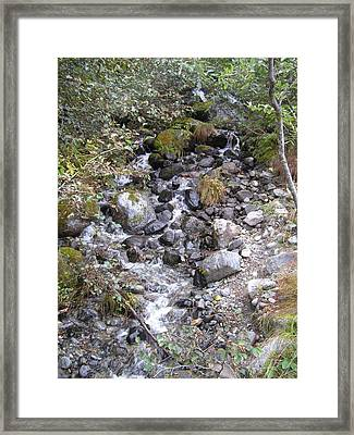 Small Glacial Stream Framed Print