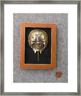 Small Horseshoe Crab Mask Framed Print