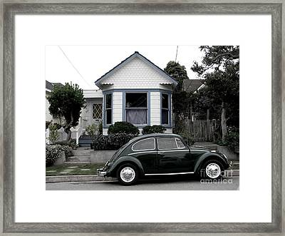 Small House With A Bug Framed Print