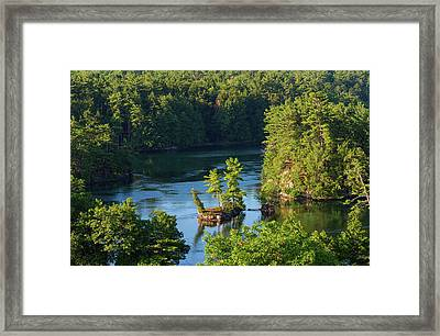 Small Island On Saint Lawrence River Framed Print