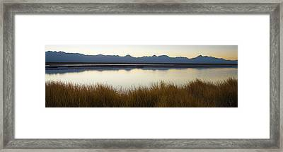 Small Lake At Sunrise, Los Flamencos Framed Print by Panoramic Images