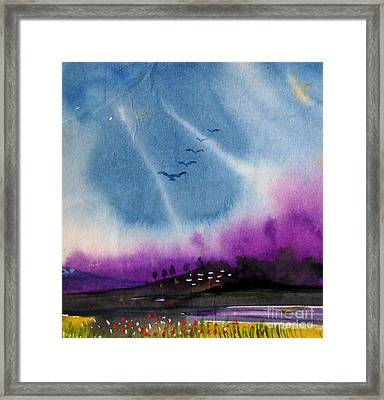 Small Landscape 4 Framed Print