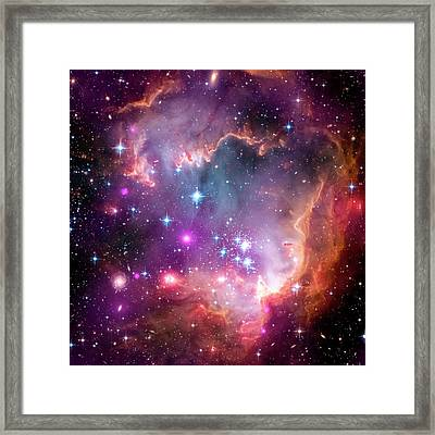 Small Magellanic Cloud Framed Print by Nasa/cxc/jpl-caltech/stsci