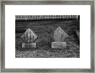 Small Markers Framed Print