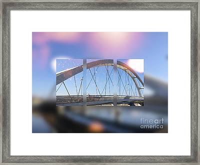 Small Modern White Bridge Framed Print