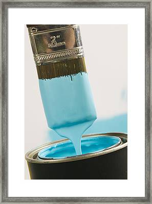 Small Paint Brush Dipped In Paint Framed Print by Lucidio