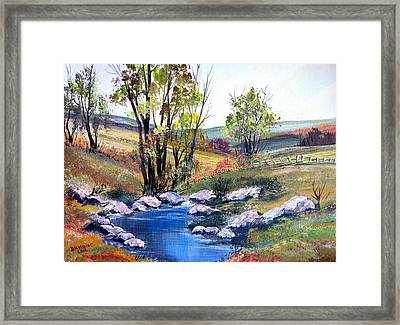 Framed Print featuring the painting Small Pond by Dorothy Maier