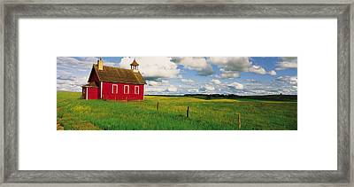 Small Red Schoolhouse, Battle Lake Framed Print by Panoramic Images