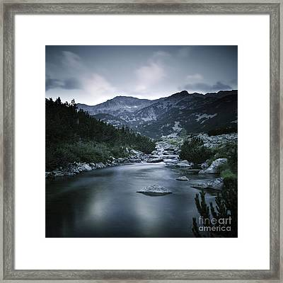 Small River In The Mountains Of Pirin Framed Print by Evgeny Kuklev