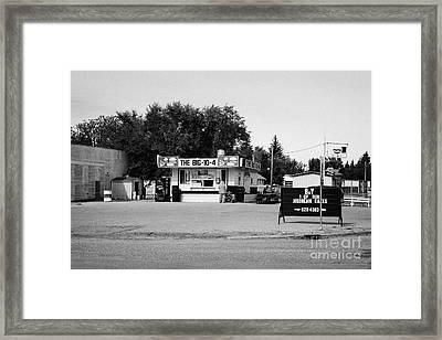 small roadside diner leader Saskatchewan Canada Framed Print