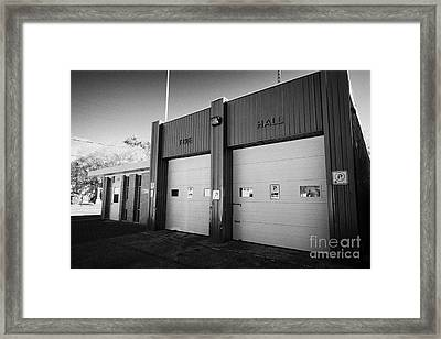 small rural fire hall and police station bengough Saskatchewan Canada Framed Print by Joe Fox