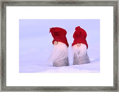 Small Santa Claus Framed Print by Tommytechno Sweden