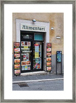 Small Shop Framed Print