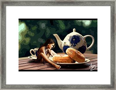 Small Snack Framed Print by Moxxy Simmons