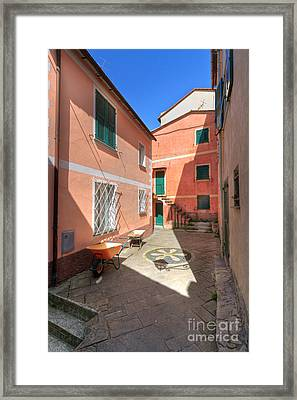 small square in Camogli Framed Print by Antonio Scarpi