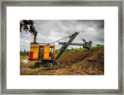 Small Steam Shovel Framed Print by Paul Freidlund