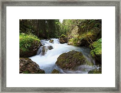 Framed Print featuring the photograph Small Stream by Antonio Scarpi