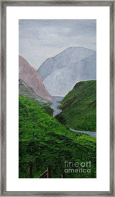 Framed Print featuring the painting Small Stream In The Hills by Susanne Baumann