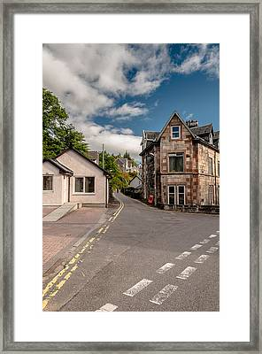 Framed Print featuring the photograph Small Streets Of Oban by Sergey Simanovsky