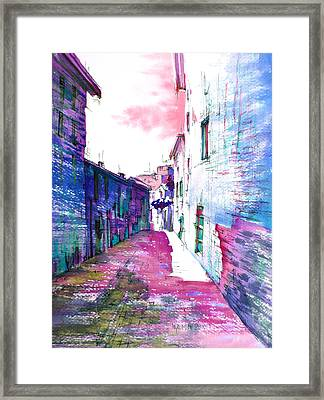 small streets of the city of Gubbio-1 Framed Print by Khromykh Natalia