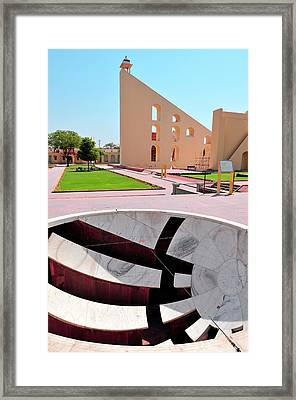Small Sundial (and A Larger One Framed Print by Steve Roxbury