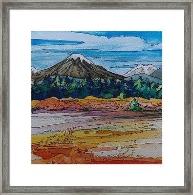 Small Sunriver Scene Framed Print by Terry Holliday