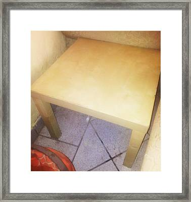 Small Table Framed Print by Unique Consignment