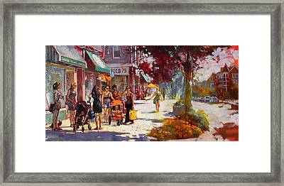 Small Talk In Elmwood Ave Framed Print